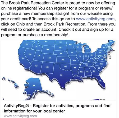 Recreation Department | Brook Park, Ohio